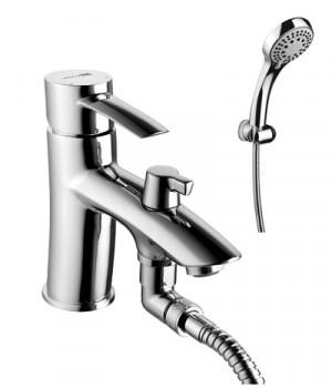 Серия ANTLANTISS Смеситель на борт ванны с монолитным изливом – LM3215C