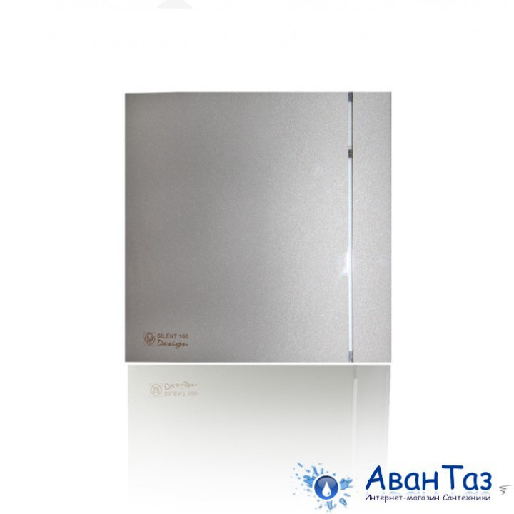 (Soler & Palau) Вентилятор накладной SILENT-100 CHZ SILVER DESIGN с таймером и датчиком влажности