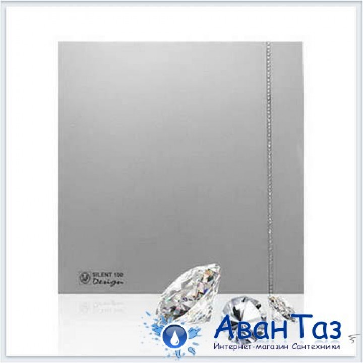 (Soler & Palau) Вентилятор накладной SILENT-100 CZ SILVER SWAROVSKI DESIGN (230V 50)