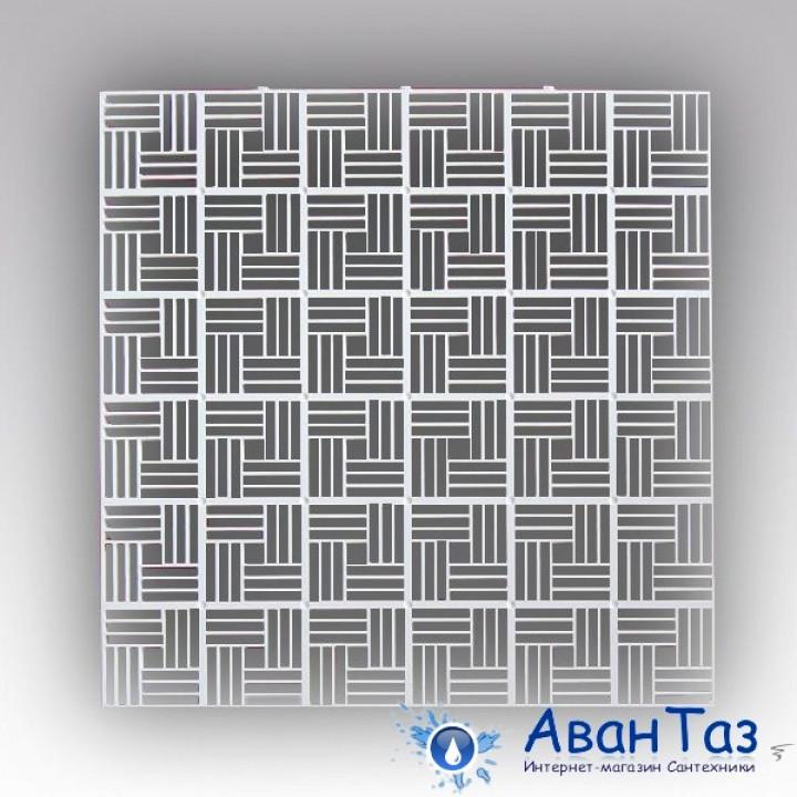 Решетка вентиляционная приточно-вытяжная декоративная потолочная, полипропилен 600х600, бел